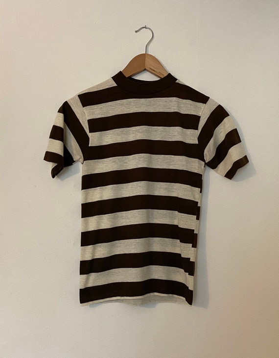 Vintage 1960s 1970s Striped T-shirt 50s