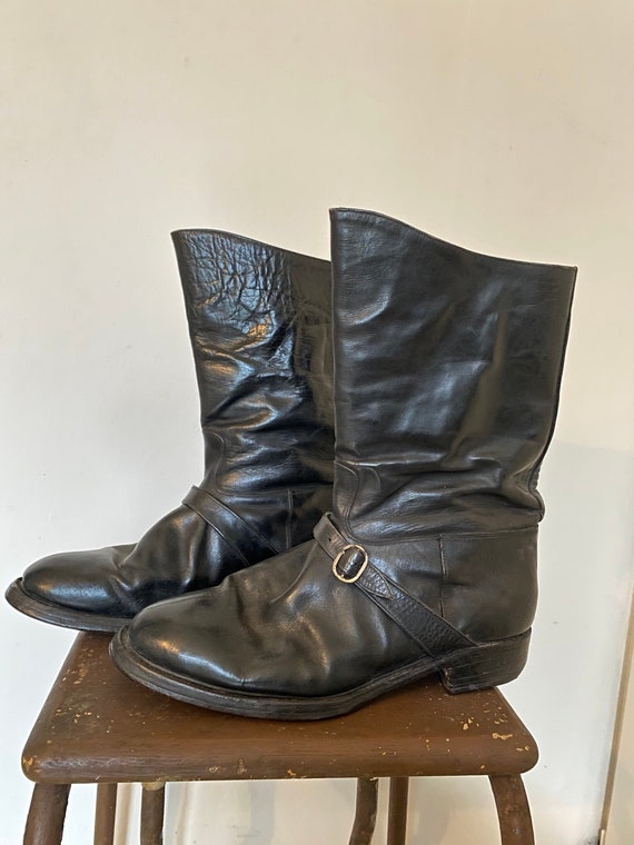 Vintage 1930s 1940s Motorcycle Engineer Boots