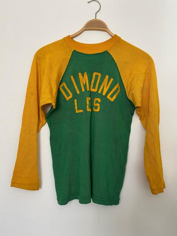 Vintage 1940s Sportswear Two Tone Athletic Shirt J
