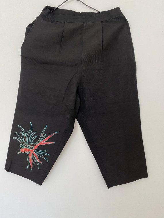 Vintage 1950s Capri Cigarette Pants Capri Clam Dig