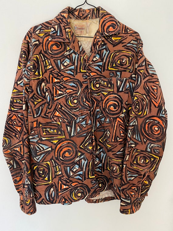 RARE Vintage 1950s PENNEYS Towncraft Abstract Prin