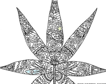4 20 Time To Burn Adult Coloring Page By The Artful Maker Etsy
