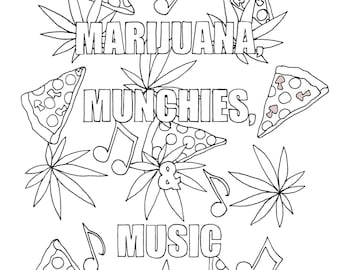 Weed Coloring Pages Coloring Pages
