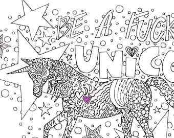 I Have No Fucks To Give Adult Coloring Page By The Artful Etsy