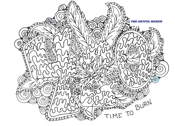 Weed Coloring Pages Ideas - Whitesbelfast | 409x570