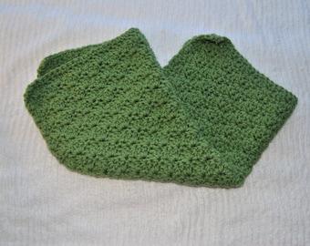 Moss Green Baby Blanket