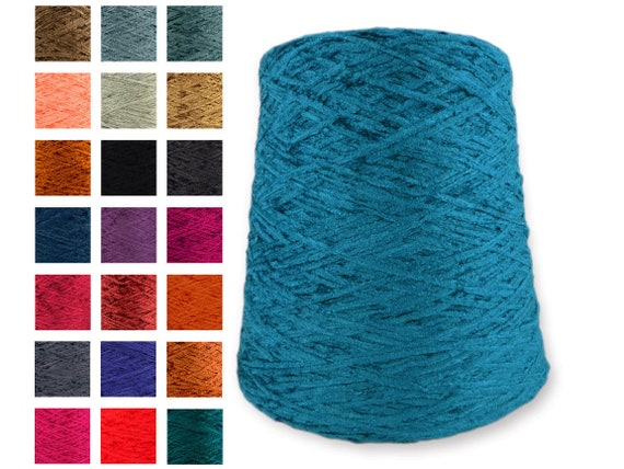 1 lb Rayon Chenille Yarn Multi-Color Variegated White Base 1300 YPP 1 lb