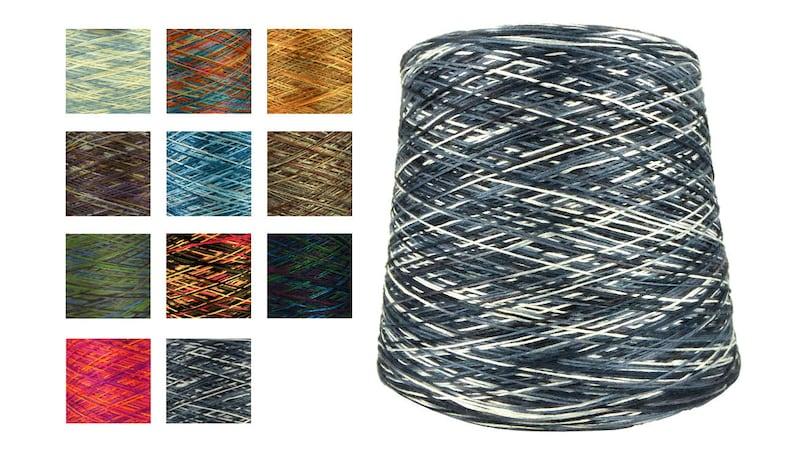 Bamboo Viscose Cone Yarn 30s/2x6 Variegated Rainbow Multi-Color Machine  Knit Hand Knit Crochet Yarn Rayon