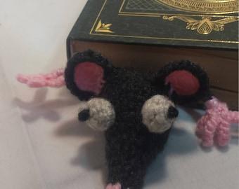 Crocheted Rat Bookmark