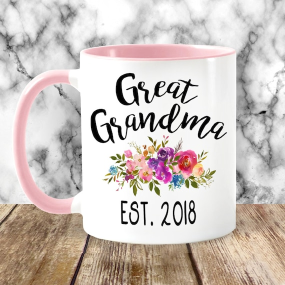 great grandma mug personalized with established year birth etsy