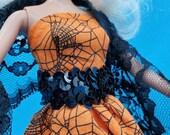 Halloween Barbie Ball Gown Dress, handmade barbie clothes