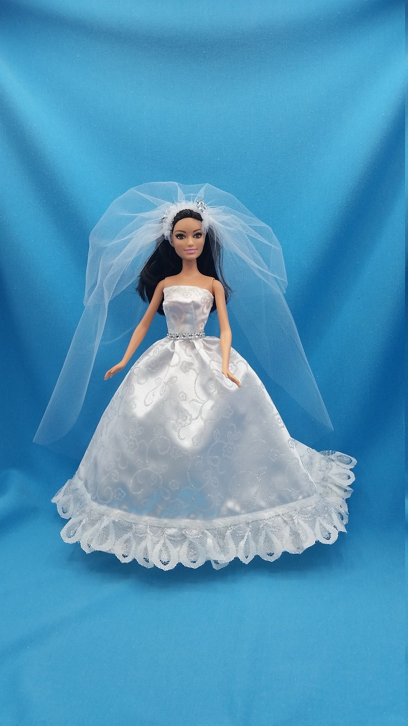 Barbie Wedding Dress.Barbie Wedding Dress Barbie Wedding Gown Barbie Clothes Barbie Doll Clothes Fashion Doll Clothes Barbie Barbie Outfit