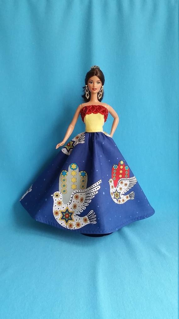 Orange Hair De Ball Outfit w// dress,shoes,bag jewellery Barbie Doll Clothes