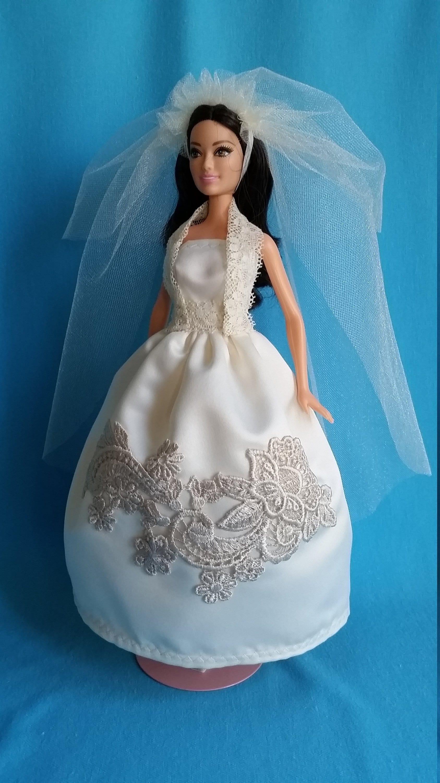 Barbie Wedding Dress.Barbie Wedding Dress Barbie Wedding Gown Barbie Gown Barbie Dress Barbie Clothes Barbie Doll Clothes Fashion Doll Clothes Barbie