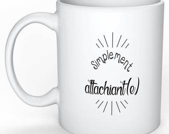 Mothers personalized mug - mug humor - gift for her - gift - simply attachiante - gift - funny gift