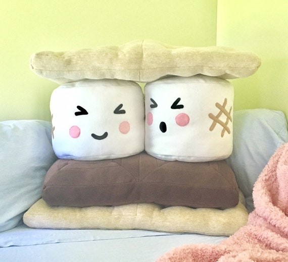Smores Stuffed Animal, S Mores Giant Pillow Set Camping Decor Rustic Kids Etsy