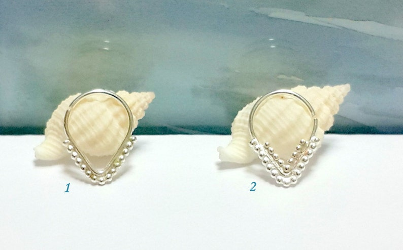 Septum Ring Handmade Sterling Silver Indian Style Nose Hoop In 16