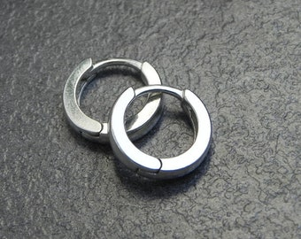 3849733d0 Sterling Huggies, Small Huggie Hoop Earrings Silver, Minimal Jewellery,  Modern Sterling Earring, Silver Jewelry for Men, Unisex Jewellery
