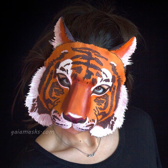 Carta Tigre Animale Maschera Maschera realizzata nel Regno Unito Spedizione veloce