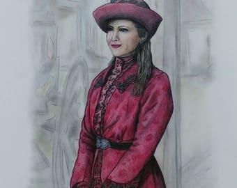 CUSTOM PORTRAIT, Color Portrait Drawing, Pencil Portrait, Pastel Portrait, Portrait Drawing, Fan Art, WCTH