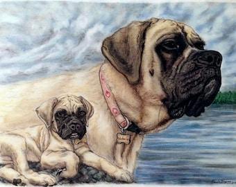 CUSTOM PET PORTRAIT, Custom Drawing, Memorial Collage, Pet Drawing, Pencil Portrait, Colored Pencil Portrait, Pastel Portrait, Dog Portrait
