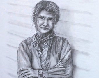 GRAPHITE PENCIL PORTRAITS - Sample - Character Likeness Drawing - Graphite Portraits Sketches.