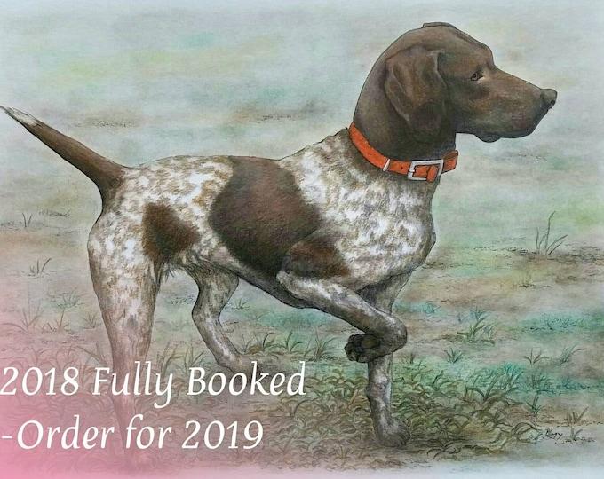 Featured listing image: Custom Pet Portrait, Custom Dog Portrait, Custom Dog Drawing, Pet Portrait Drawing, Custom Order, Pencil Portrait,Portrait On Paper