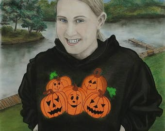 Custom Portrait, Custom Order, Pastel Portrait, Custom Drawing, Commissioned Portrait, Family Portrait, Pencil Drawing, People Portrait