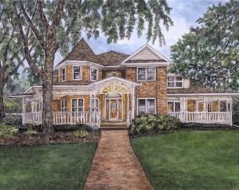 Custom House Portrait, Custom Watercolor Painting, Watercolor House Portrait, Watercolour Painting, House Portrait, Custom Portrait, House