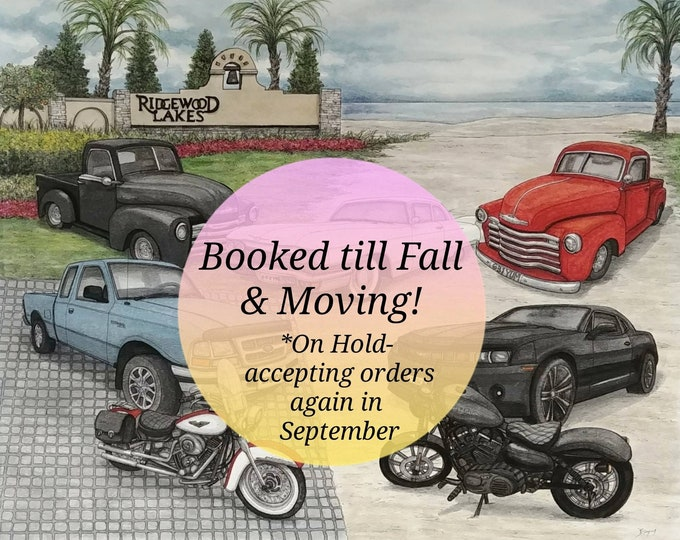 Featured listing image: Custom Portrait Painting, Custom Car Painting, Custom Order, Cars, Vehicles, Custom Watercolour Art, Watercolor Painting, Art Commission
