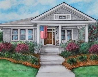 Custom House Portrait, Custom Portrait, Watercolor Painting, House Painting, Watercolour Painting, Custom Watercolor, House Portrait, Gift