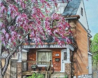 CUSTOM HOUSE PORTRAIT, House Paintings, Commissioned Portraits, Watercolour Painting, Custom Portrait, Home Portrait, Custom Design