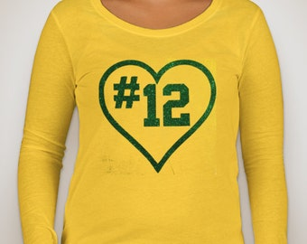 Green Bay Packers Aaron Rodgers number 12 Long Sleeve Glitter a49652836