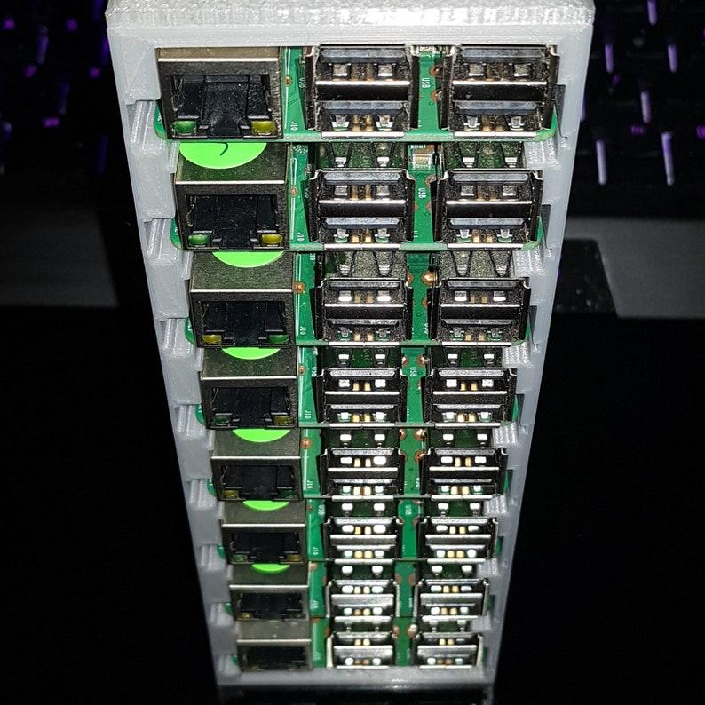 Tiny Raspberry Pi 'Server Rack' / Cluster Case (8 slots) - V2