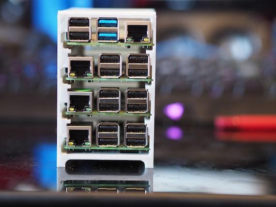 Tiny Raspberry Pi 'Server Rack' / Cluster Case (4 slots) - V3 now supports  Pi4!