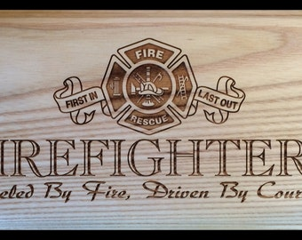 Firefighters Plaque