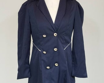 Military style Vintage Fitted Pea Coat Size 12