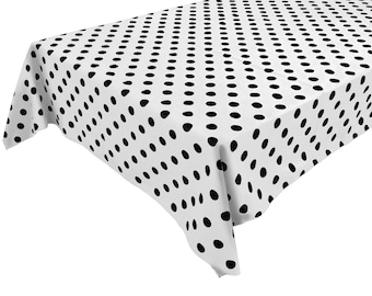 Polka Dot Tablecloth Etsy