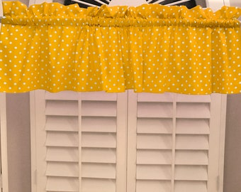 """Embroidered Beautiful Yellow Daisy and Green Leaves 16/"""" X 54/"""" Window Valance"""