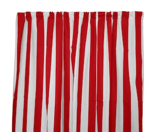 Popular Items For Red Stripe Curtains