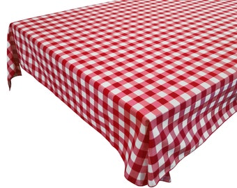 Light Weight Cotton Gingham Checkered Tablecloth / Home / Wedding / Picnic / Diner / Holiday / School / Event Table Décor