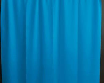 Solid Poplin Curtain Panel / Window Decor / Window Treatments / Backdrop Turquoise
