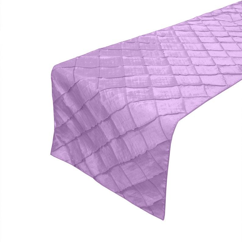 Zen Creative Designs Fancy Pintuck Table Top Runner Lavender