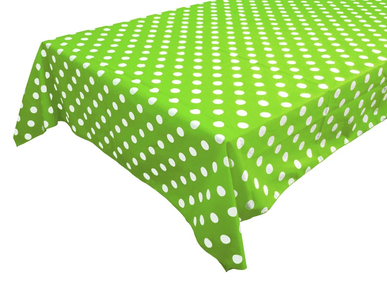 Polka Dot Green Spot Poly Cotton Fabric