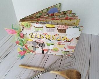 Handmade vintage scrapbook recipe album