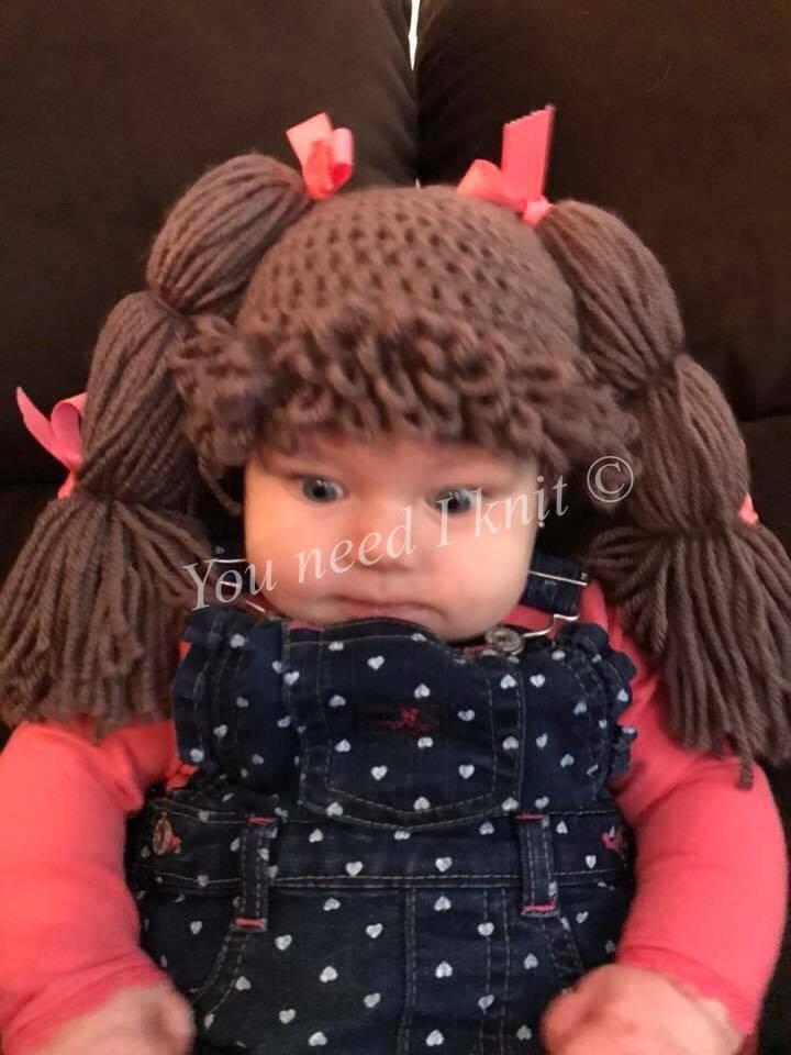 Crochet Cabbage Patch Hat Crochet Doll Hat Crochet Lulu Etsy