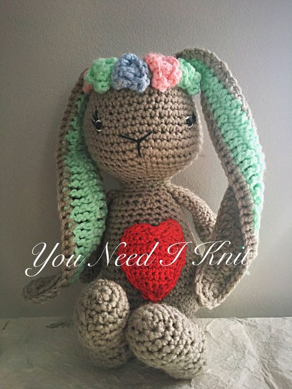 Boho Bunny Paashaas Gevuld Konijntje Schattige Bunny Etsy