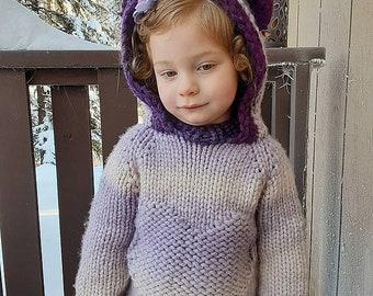 The Monster Heartland Raglan children knitting pattern