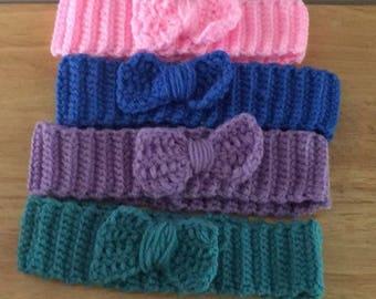Crochet headband/crochet bow headband / bow headband / baby headband / crochet baby headband/ girl headband/ crochet girl bow headband