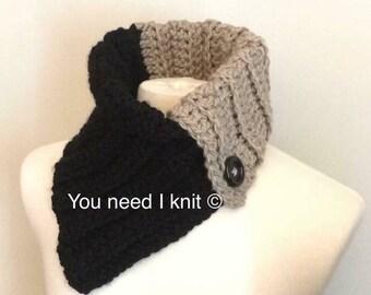 Neck warmer / crochet neck warmer / stylish neck warmer / asymmetrical cowl / mommy and me cowl / knit neckwarmer